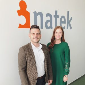 NATEK IT Recruiter Nikola Mariancikova and Kosice IT Valley representative Pavol Mirossay