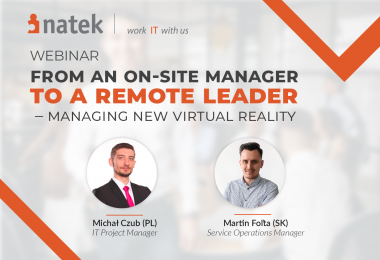 Webinar From an onsite manager to a remote leader